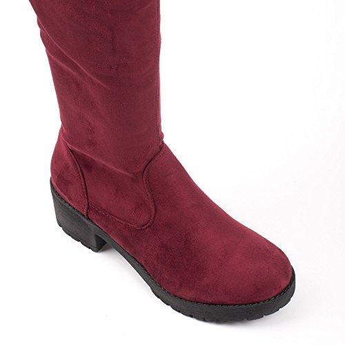 E Botas Sapatos Vermelhas Mulheres Das Ideais Botas Zg011UwOq