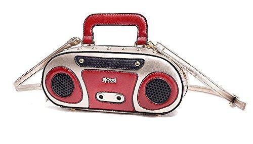 Radio / Boombox Tasche - Süsse Umhängetasche für ganz coole Girls ;) Champagne