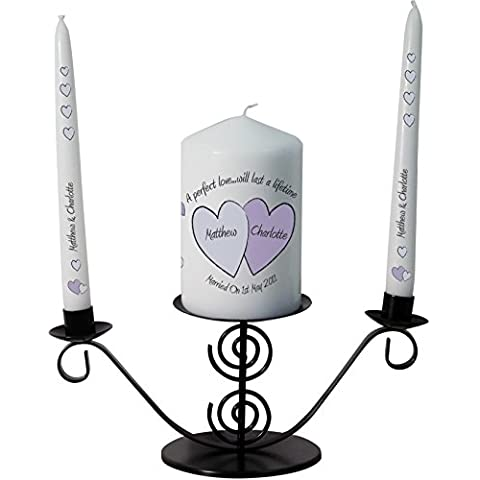 Personalised Perfect Love candele set regalo
