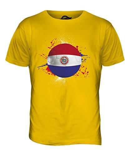 CandyMix Paraguay Fußball Herren T Shirt Dunkelgelb