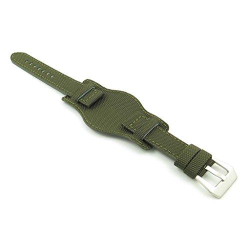Dassari Trooper Army Green nylon Kevlar Bund Watch Band misura 24mm 24/22