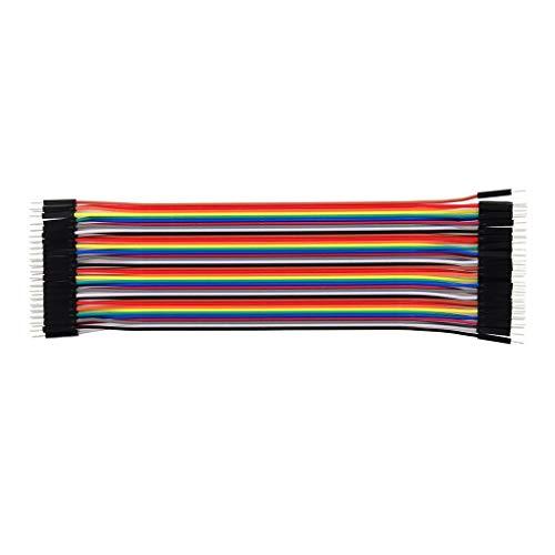 Zerama 3PCS 20CM: Bunt Dupont Draht 40pin Mann zum weiblichen Stecker auf Stecker-Buchse auf Buchse Jumper Wires (Weiblichen Männlichen Jumper Zu Drähte)
