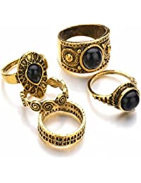 Marrakesch Vintage Midi de aspecto de Ring Set Juego de joyas en plata o de oro Anillos apilables con elefante Triángulo Serpiente Símbolo de OM Varios iconos de desido®