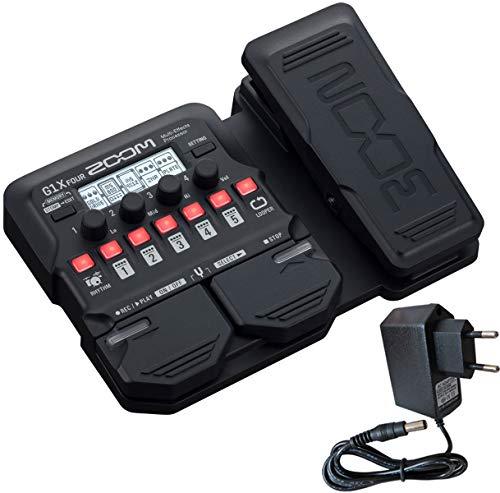 Zoom G1X FOUR Multi-Effektgerät für Gitarre + Keepdrum Netzteil 9V G1 Usb