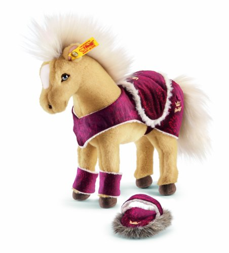 Steiff 070631 - Pferd mit Zubehoer, 25 cm, blond