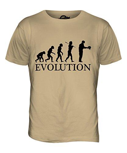 CandyMix Airbrush Evolution Des Menschen Herren T Shirt Sand