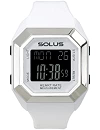 Solus Unisex Digital Watch with LCD Dial Digital Display and White Plastic or PU Strap SL-840-002