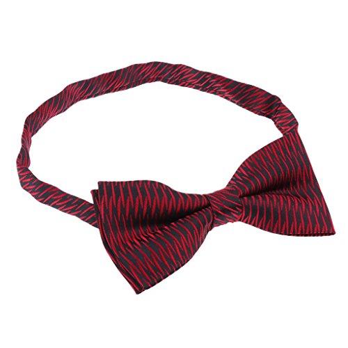 MagiDeal Fliege Schleife für Business Hemd mit verstellbarem Band - Red Slash, wie beschrieben
