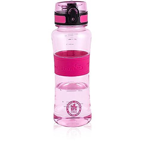 ion8 Ultimate Leak Proof BPA Free Sports Water Bottle, 550ml (Pink)