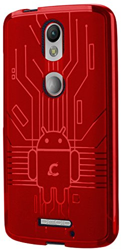 Moto X Force Case, Cruzerlite Bugdroid Circuit Case Compatible for Motorola Moto X Force - Red
