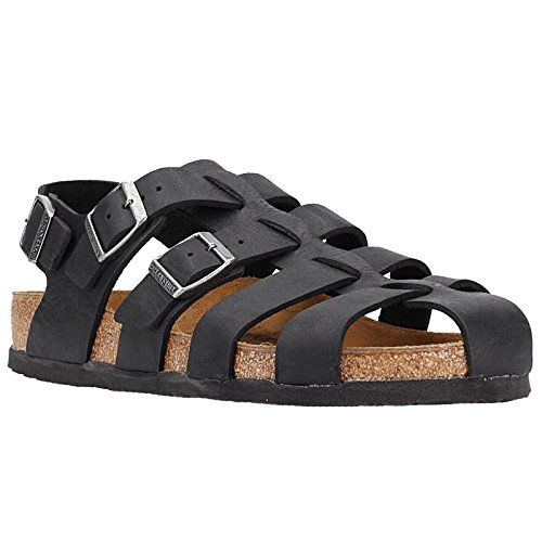 BIRKENSTOCK Womens Zadar Camberra Old Black Nubuck Sandals 40 EU Cork High Heel Slingback