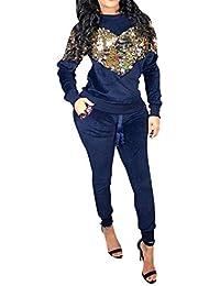 Amazon.it  Pantaloni donna velluto - Blu   Tute da ginnastica ... 8ea5de495ee