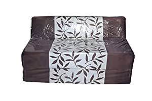 Feather Puff Two Seater Sofa Cum Bed (Multicolor)