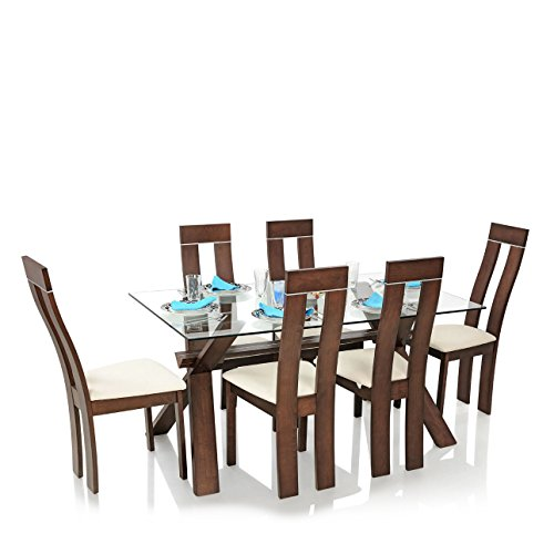 Royal Oak Olive Six Seater Dining Table Set (Walnut)