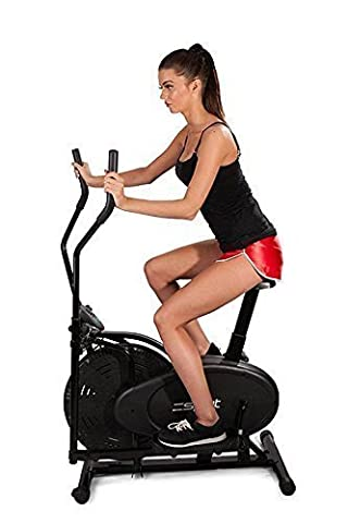 ACTIV-8 2-IN-1 Elliptical Cross Trainer & Exercise Bike inc Computer for Speed, Time, Distance &