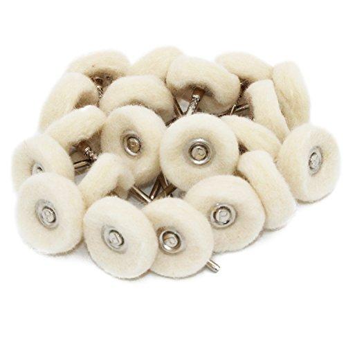 cnmade montiert cnmade Baumwolle Polieren Buff Rad 2,35mm Schaft für Dremel Rotary Werkzeuge Pack 20Stück
