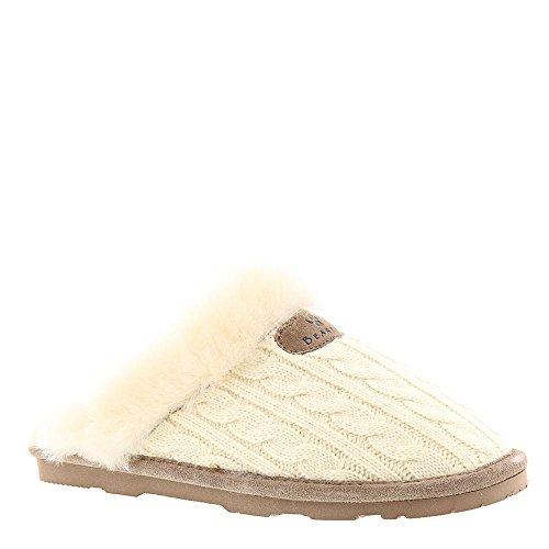 Bearpaw Damen Effie Pantoffeln, Weiß (Linen 379), 37 EU (Bearpaw Hausschuhe)
