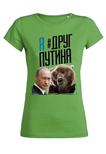 rs54 T-shirt for women Wants Putin's Friend, Größe:L;Farbe:Green