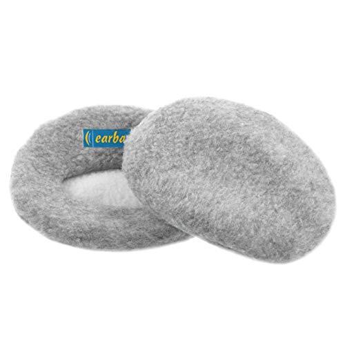 Earbags Hörgeräte Ohrenwärmer Ohrenschützer Mütze Stirnband Warme Ohren Original Extra Groß, Farbe Grau Meliert, Größe M