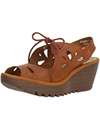 d776a26df0726 Womens Fly London Yend Summer Open Toe Cut Out Wedge Heel Holiday Sandals