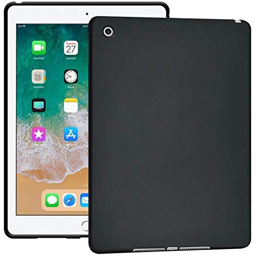 Verco Hülle für iPad Air (2013), Schutzhülle Tablet Tasche Silikon Cover [Modell: A1474 / A1475], Schwarz (Air Ipad 1 Tasche Tablet)