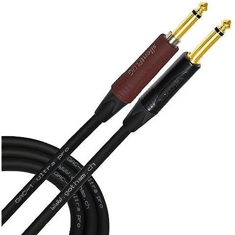 5m–GOTHAM GAC-1Ultra Pro–Neutrik placcato oro silenzioso plug–Premium, low-capacitance (21pf/F) con chitarra Bass cavo per strumenti–Dritto a 1/4inch Neutrik Connettori Placcati Oro