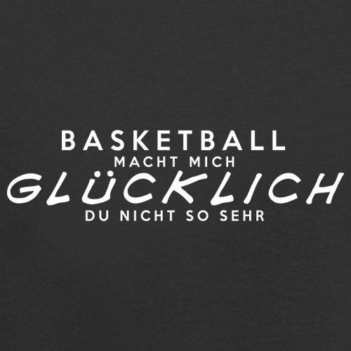 Basketball macht mich glücklich - Herren T-Shirt - 13 Farben Schwarz
