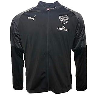 Puma Herren Arsenal FC Stadium Jacket Sponsor Logo with Zipped Pock Trainingsjacke Black-Chili Pepper L