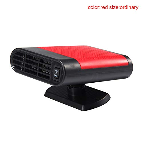 Lanceasy 12 V Auto Elektrische Heizung Ventilator Luftreiniger Warm Defogging Auto Mini Heizlüfter rot