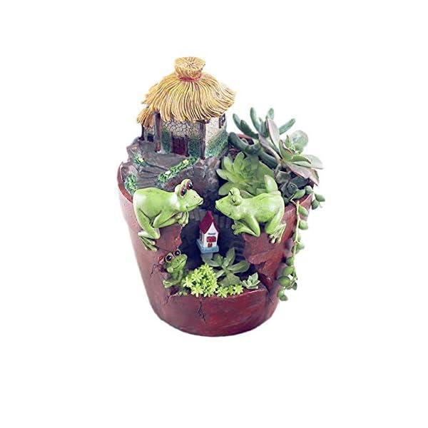KICCOLY Macetas para Flores,Asamoom Maceta y lapicero en Forma de Figura de acci¨®n para ni?os