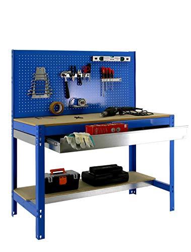 simonrack bt-2Box 1200-Set Werkbank blau/Holz - 3