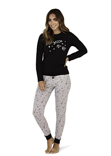 - 417uKmJFvOL - Prosecco Ho Ho Pyjamas Ladies PJs Nightwear Novelty
