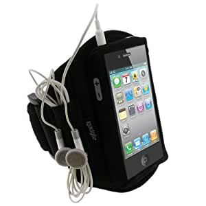 iGadgitz Neoprene Sports Gym Jogging Armband for Apple iPhone 4/4S - Black