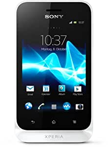 Sony Xperia tipo Smartphone (8,1 cm (3,2 Zoll) Touchscreen, 3,2 Megapixel Kamera, Android 4.0) weiß