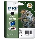 Epson T0791 Tintenpatrone Claria Eule 51 g 470-570pp Seiten, Schwarz