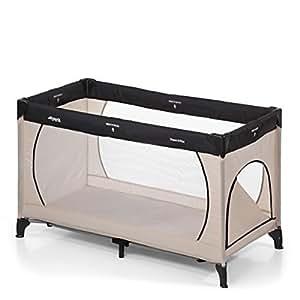Hauck 603673 Kindereisebett Dream N Play Plus inklusive Matratze, Seitlichem Reißverschluss und Transporttasche, Tragbar und klappbar, 120 x 60 cm, grau