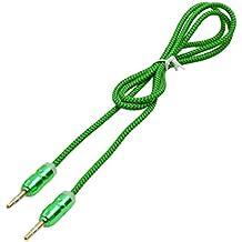 sourcingmap® Adaptador macho a macho de 3,5 mm estéreo verde coche Audio auriculares cable aux 103cm