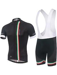 257e466e5bc5 Ateid Abbigliamento Ciclismo da Uomo Maglia da Bicicletta + Shorts  Imbottito Italia L
