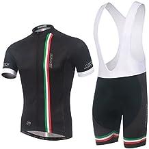 Ateid Maillot de Ciclismo y Pantalón Corto con Tirantes para Hombre, Italia L