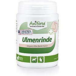 AniForte amerikanische Ulmenrinde Pulver 100g Slippery Elm Bark Pulver - Naturprodukt für Hunde und Katzen, Wohlbefinden Magen-Darm-Trakt, Unterstützung Darmflora, Vitamin Versorgung, Natur Pur