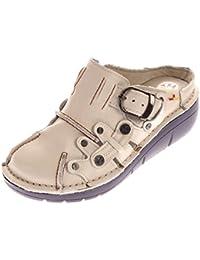 Sabots femme en cuir véritable Sabot Chaussures Pantoufles Pantolette  Sandales TMA-8890 Taille ... 62b528312dd4