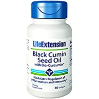 Black Cumin Seed Oil With Bio-Curcumin, 60 Softgels - Life