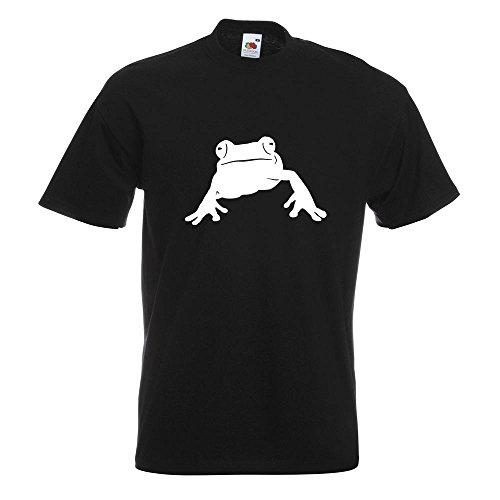 KIWISTAR - Frosch Frog Teich T-Shirt in 15 verschiedenen Farben - Herren Funshirt bedruckt Design Sprüche Spruch Motive Oberteil Baumwolle Print Größe S M L XL XXL Schwarz