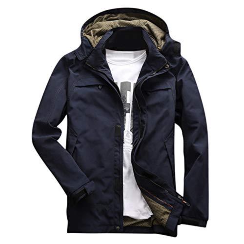 Banbry Giacca Arrampicata Giacche per Esterno Antivento Autunno E Inverno Jacket Coat Cappotto Caldo Spesso Felpe con Cappuccio Sportiva A Vento in Outwear Leggero Top Cosplay da Uomo