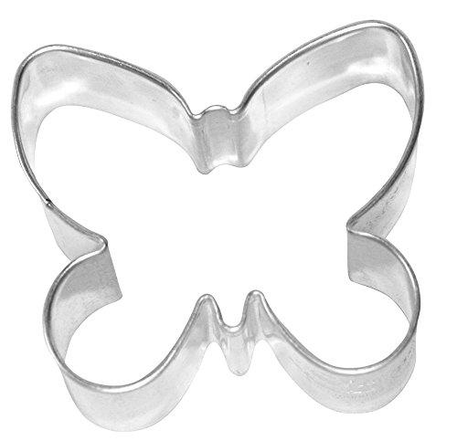 Birkmann Ausstechform Schmetterling Weißblech, 6 cm