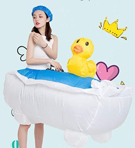 Auch Partei Bald Kostüm - XIBAO aufblasbare Kostüme für Erwachsene, aufblasbares Kostüm, aufblasbarer Badewannen-Partei-Stützenanzug, lustige Kleidung der Karikaturpuppentanz-Partei, Abendkleidkostüme