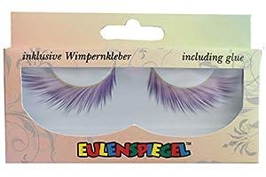 Eulenspiegel 000779 - pestañas artificiales - Blanco/púrpura - 2 x 1 piezas