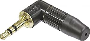 Neutrik NPT3RC Right angled 3 5mm Jack plug Professional, Bl