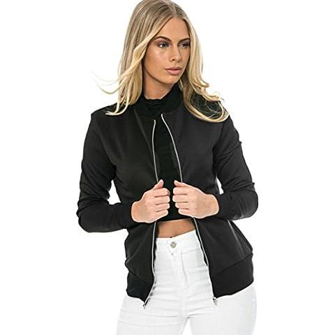 Fortan Manica lunga giacca sportiva del rivestimento del vestito casuale