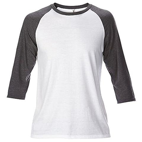 Anvil Unisex Two Tone Tri-Blend 3/4 Sleeve Raglan T-Shirt (M)